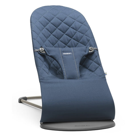 BABYBJÖRN Bouncer Bliss (Midnight Blue in Cotton)-Bouncer-Supreme Stroller