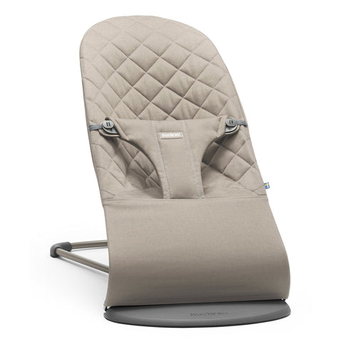 BABYBJÖRN Bouncer Bliss (Sand Grey in Cotton)-Bouncer-Supreme Stroller