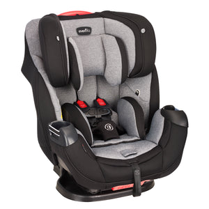 Evenflo Platinum Symphony DLX All-in-One Car Seat (Ashland Gray)-Convertible Car Seat-Supreme Stroller