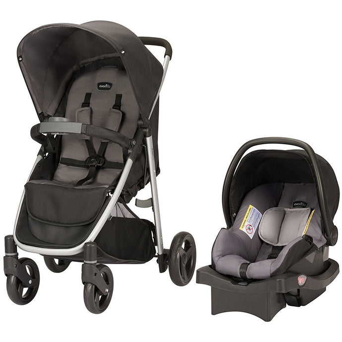 Evenflo Flipside Travel System (Glenbarr Grey)-Travel System-Supreme Stroller