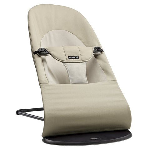 BABYBJÖRN Bouncer Balance Soft (Khaki/Beige in Cotton)-Bouncer-Supreme Stroller