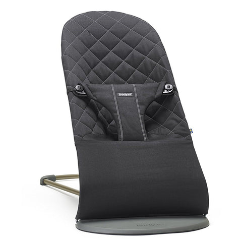 BABYBJÖRN Bouncer Bliss (Black in Cotton)-Bouncer-Supreme Stroller