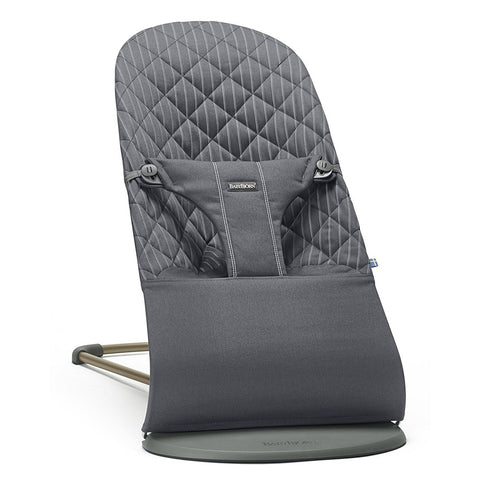 BABYBJÖRN Bouncer Bliss (Gray/Pinstripe in Cotton)-Bouncer-Supreme Stroller