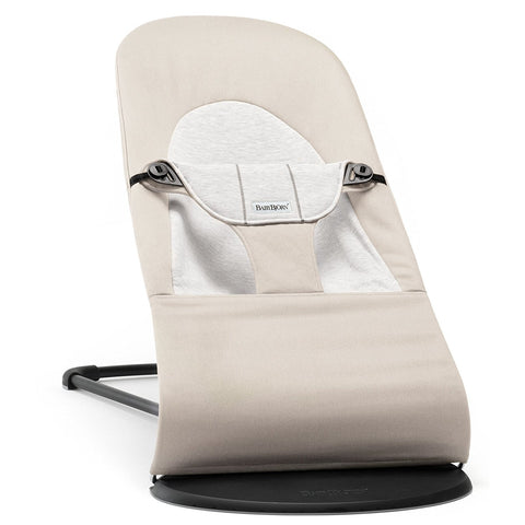 BABYBJÖRN Bouncer Balance Soft (Beige/Gray in Cotton Jersey)-Babybjörn-Supreme Stroller
