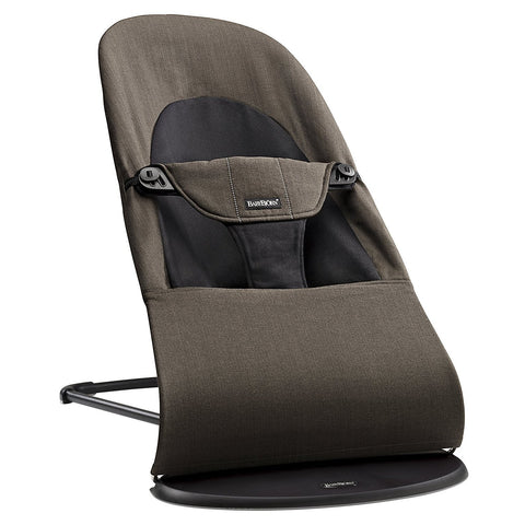 BABYBJÖRN Bouncer Balance Soft (Black/Brown in Organic)-Bouncer-Supreme Stroller