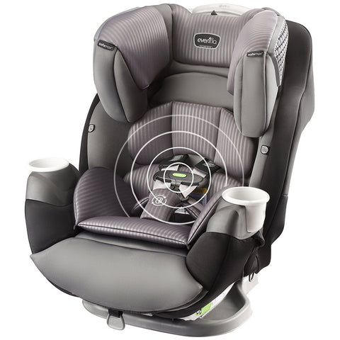 Evenflo SafeMax™ All-in-One Convertible Car Seat with SensorSafe LX (Industrial Edge)-Evenflo-Supreme Stroller
