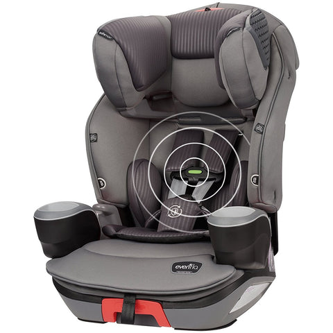 Evenflo® SafeMax™ 3-in-1 Booster Car Seat with SensorSafe Technology (Charcoal Fizz)-Evenflo-Supreme Stroller