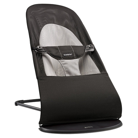 BABYBJÖRN Bouncer Balance Soft (Black/Gray in Mesh)-Bouncer-Supreme Stroller