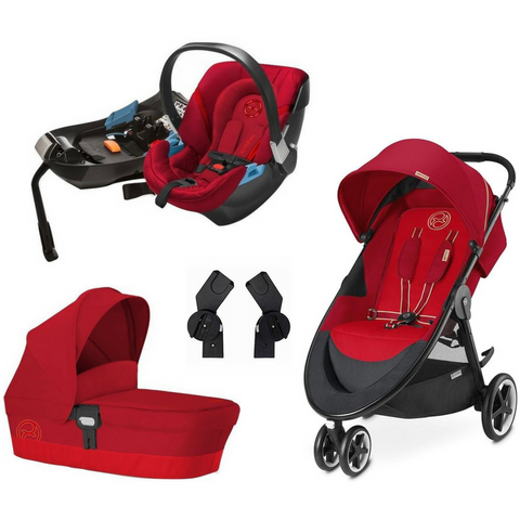 Cybex Agis M-Air3 Complete Stroller | Aton 2 Car Seat | Carry Cot M Bundle (Hot & Spicy)-Cybex-Supreme Stroller