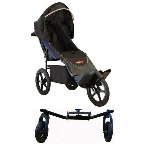 Adaptive Star Axiom Endeavour Push Chair Size 2 With Swivel Wheel-Adaptive Star-Supreme Stroller