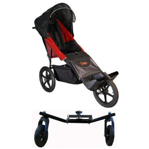 Adaptive Star Axiom Endeavour Push Chair Size 3 With Swivel Wheel-Adaptive Star-Supreme Stroller