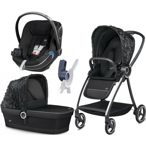 GB Maris Day Dream Stroller | Idan Car Seat | Carry Cot Bundle (Black)-Stroller-Supreme Stroller