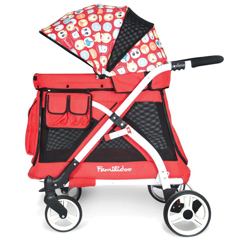 Wonderfold MJ01 Chariot Mini Stroller Wagon (Red)-Stroller-Supreme Stroller