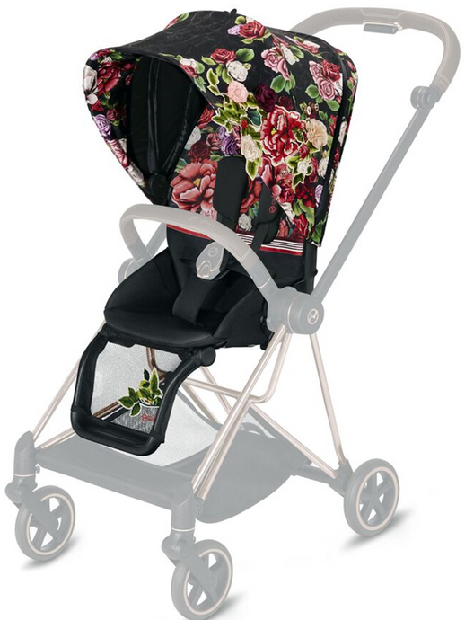 Cybex MIOS 2 Spring Blossom Seat Pack (Black)
