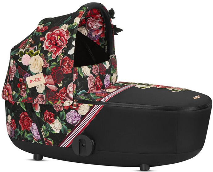 Cybex MIOS Lux Spring Blossom Carry Cot (Black)