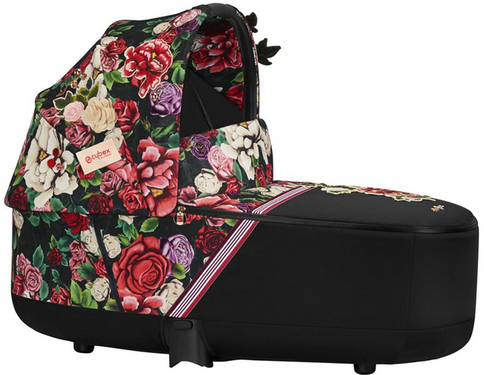 Cybex PRIAM Lux Carry Cot Spring Blossom (Black)