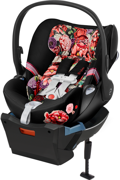 Cybex Cloud Q with SensorSafe™ Spring Blossom Infant Car Seat (Black)