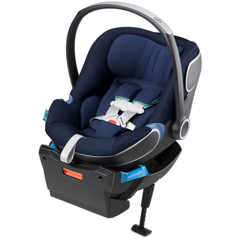 GB Idan Infant Car Seat with Load Leg Base (Sea Port Blue)-Infant Car Seat-Supreme Stroller