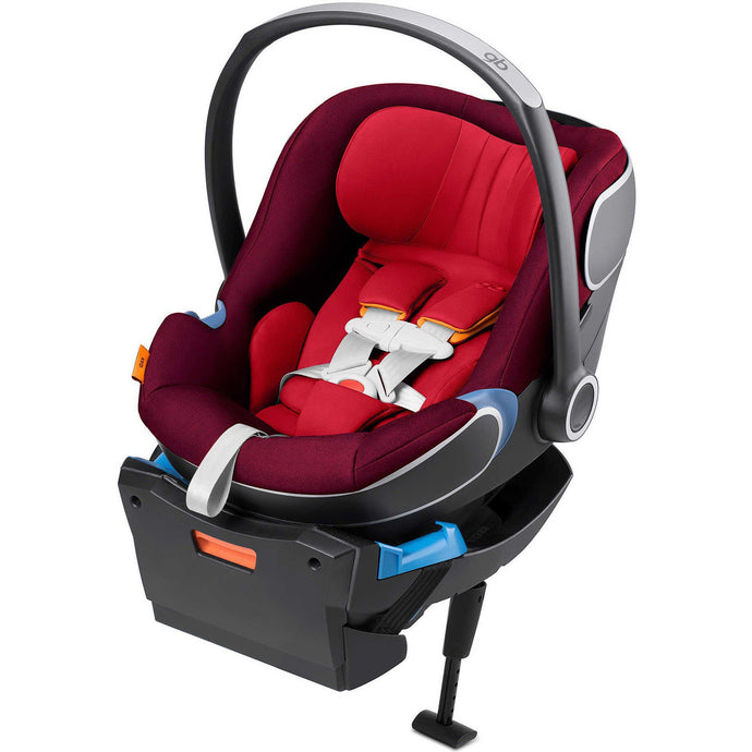 GB Idan Car Seat with Load Leg Base (Dragonfire Red)-Infant Car Seat-Supreme Stroller