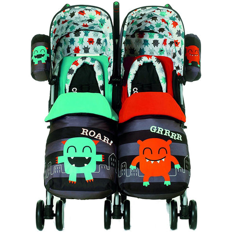 Supa Dupa Twin Stroller - Cuddle Monster-Stroller-Supreme Stroller