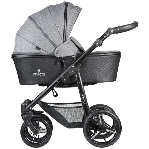 Venicci Shadow Stroller (Denim Grey/Black Frame)-Stroller-Supreme Stroller