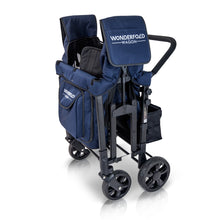 Wonderfold W4 Multifunctional Quad Stroller Wagon (Navy)