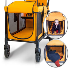 Wonderfold W4 Multifunctional Quad Stroller Wagon (Orange)