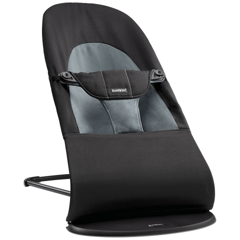 BABYBJÖRN Bouncer Balance Soft (Black/Dark Gray in Cotton)-Bouncer-Supreme Stroller