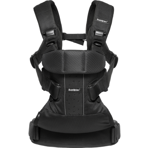 BABYBJÖRN Baby Carrier One Air (Black, Mesh)-Baby Carrier-Supreme Stroller