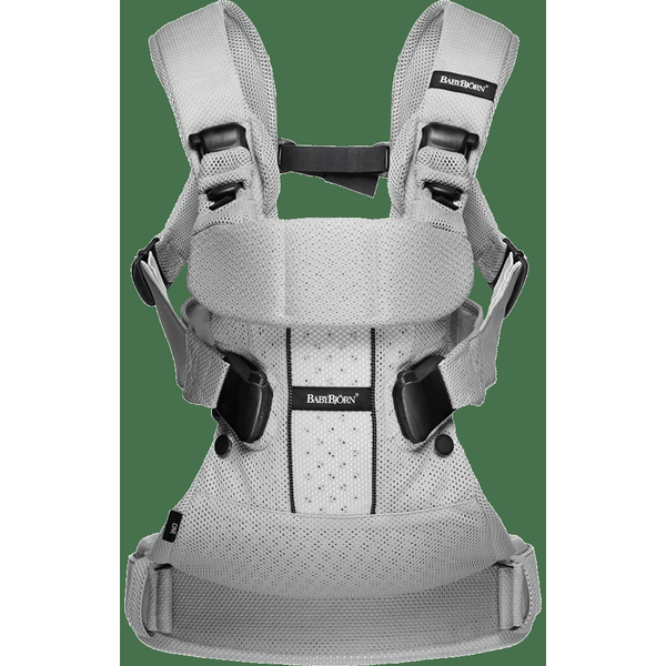 BABYBJÖRN Baby Carrier One Air (Silver, Mesh)-Baby Carrier-Supreme Stroller