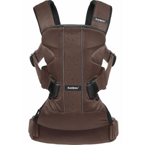 BABYBJÖRN Baby Carrier One Air (Brown, Mesh)-Baby Carrier-Supreme Stroller