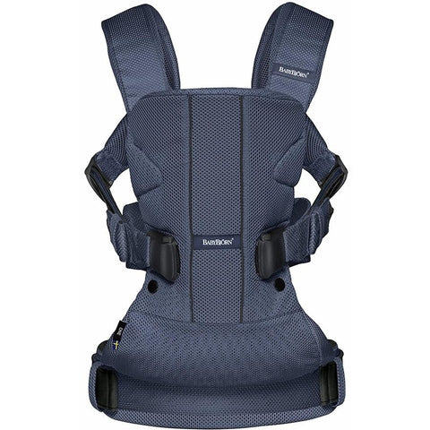 BABYBJÖRN Baby Carrier One Air (Navy Blue, Mesh)-Baby Carrier-Supreme Stroller