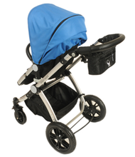 Load image into Gallery viewer, Babyroues Letour Avant Bassinet and Stroller in Black on a Silver Frame-Stroller-Supreme Stroller