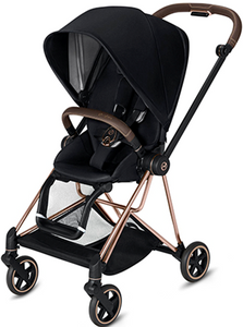 Cybex MIOS 3-in-1 Travel System w/ Rose Gold Frame (Premium Black)