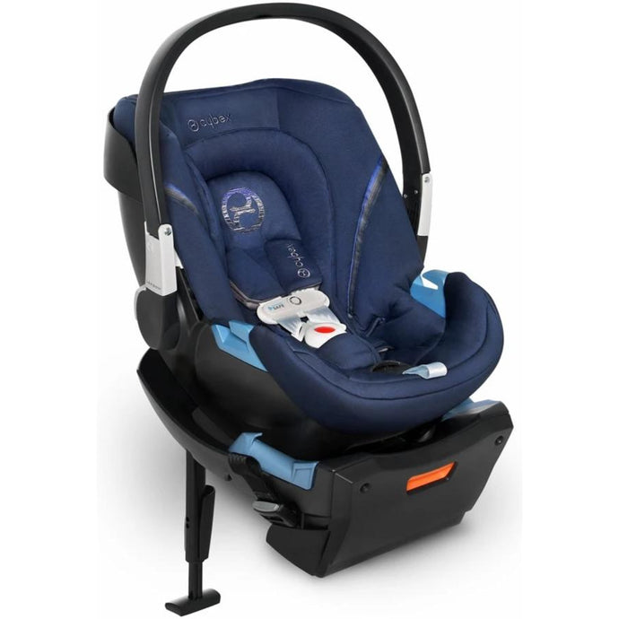 Cybex Aton 2 SensorSafe Infant Car Seat (Denim Blue)-Infant Car Seat-Supreme Stroller