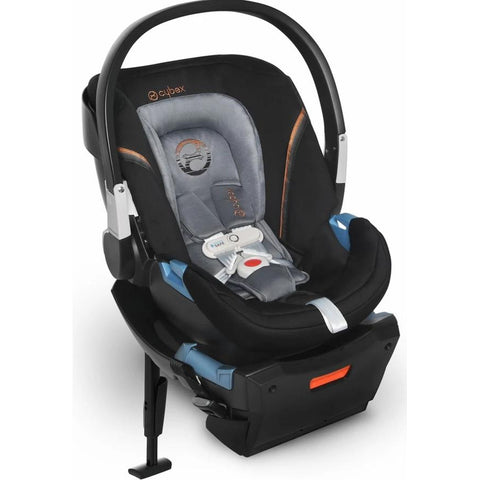 Cybex Aton 2 SensorSafe Infant Car Seat (Pepper Black)-Infant Car Seat-Supreme Stroller