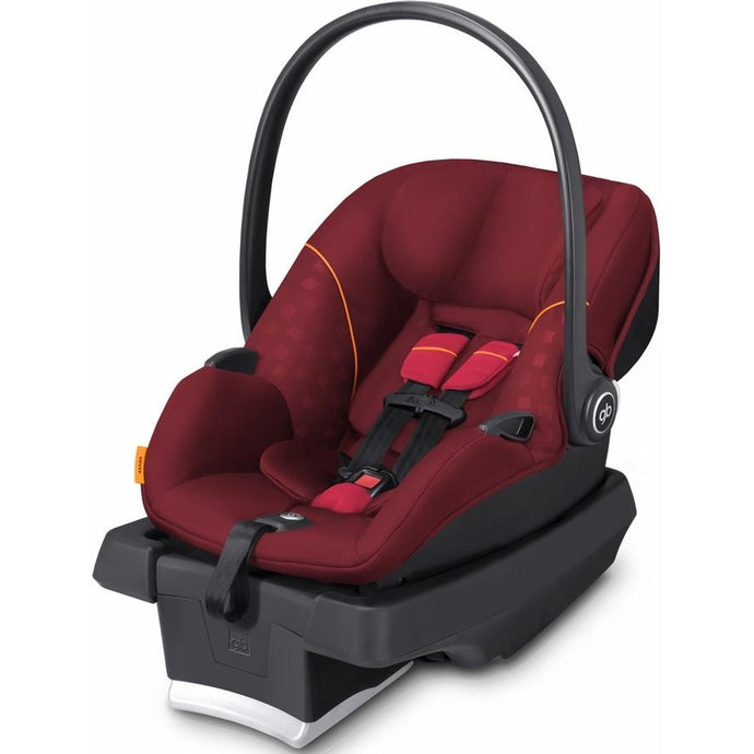 GB Asana Infant Car Seat with Load Leg Base (Dragonfire Red)-Infant Car Seat-Supreme Stroller