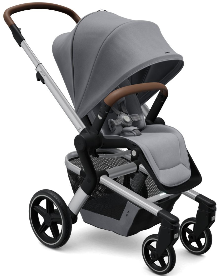 Joolz Hub+ Stroller Chassis + Seat with Raincover (Gorgeous Grey)