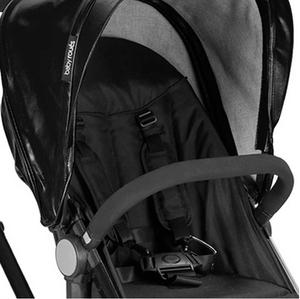Babyroues Letour Lux II Bassinet and Stroller in Black Leatherette on a Black Frame-Stroller-Supreme Stroller
