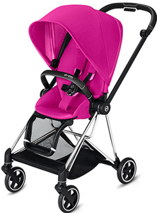 Cybex MIOS 3-in-1 Travel System w/ Chrome Black Frame (Fancy Pink)