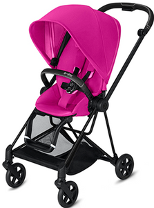 Cybex MIOS 3-in-1 Travel System w/ Matte Black Frame (Fancy Pink)