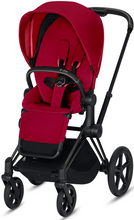 Cybex PRIAM 3-in-1 Travel System w/ Matte Black Frame (True Red)