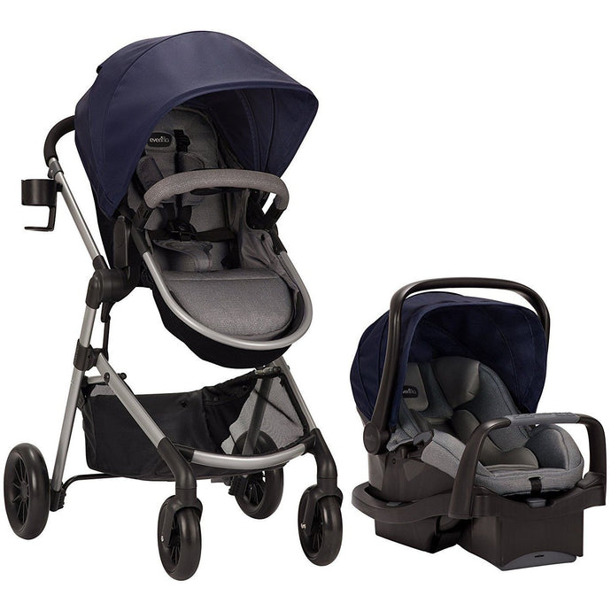 Evenflo Pivot Modular Travel System w/ SafeMax (Navy)-Travel System-Supreme Stroller