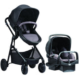 Evenflo Pivot Modular Travel System w/ SafeMax (Casual Gray)-Travel System-Supreme Stroller