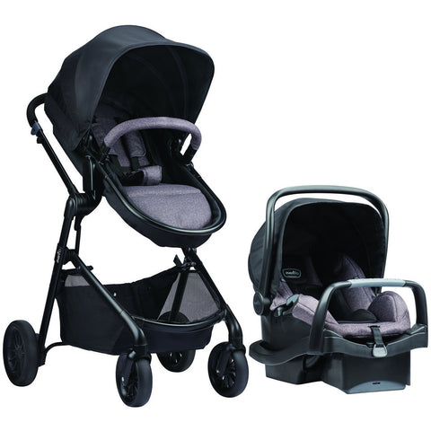 Evenflo Pivot Modular Travel System w/ SafeMax (Casual Gray)-Evenflo-Supreme Stroller