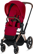 Cybex PRIAM 3-in-1 Travel System w/ Rose Gold Frame (True Red)