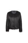 The 'Mama' Black Swan- Ladies Faux Fur Jacket