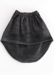 DIPPED MINI SKIRT Black Denim