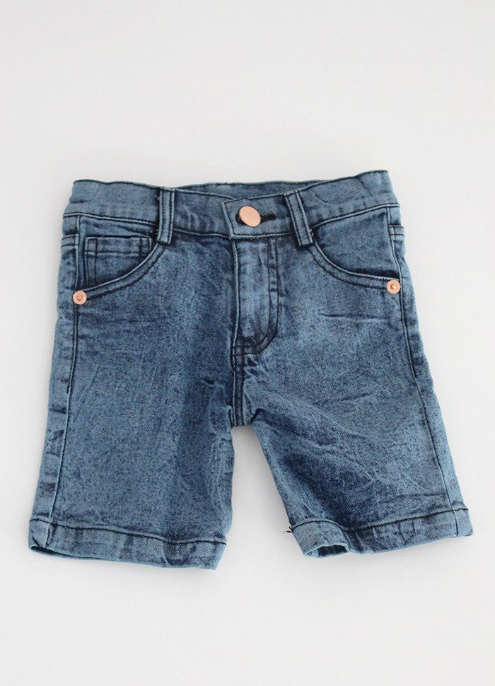 BOYS DENIM SHORTS Blue Denim