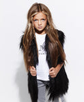 The Noir Faux Fur Vest